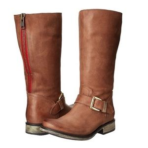Steve Madden Fllash Leather Moto Boots